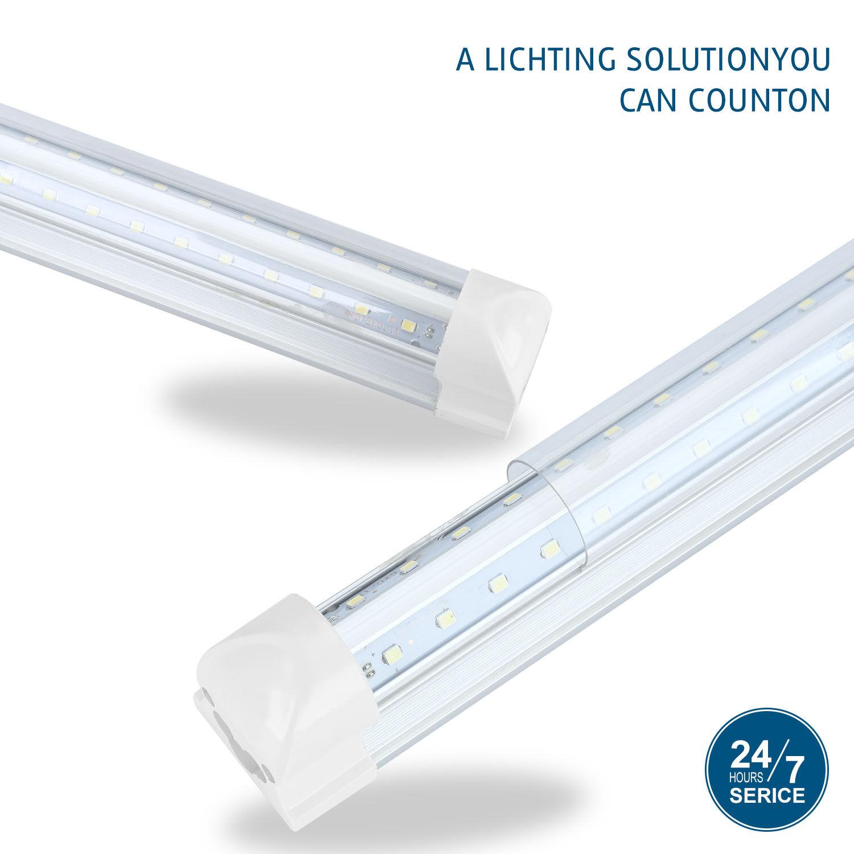 10 30pcs 4ft 36w T8 LED Tube Light Integrated Fluorescent Clear Milky Lens 110V