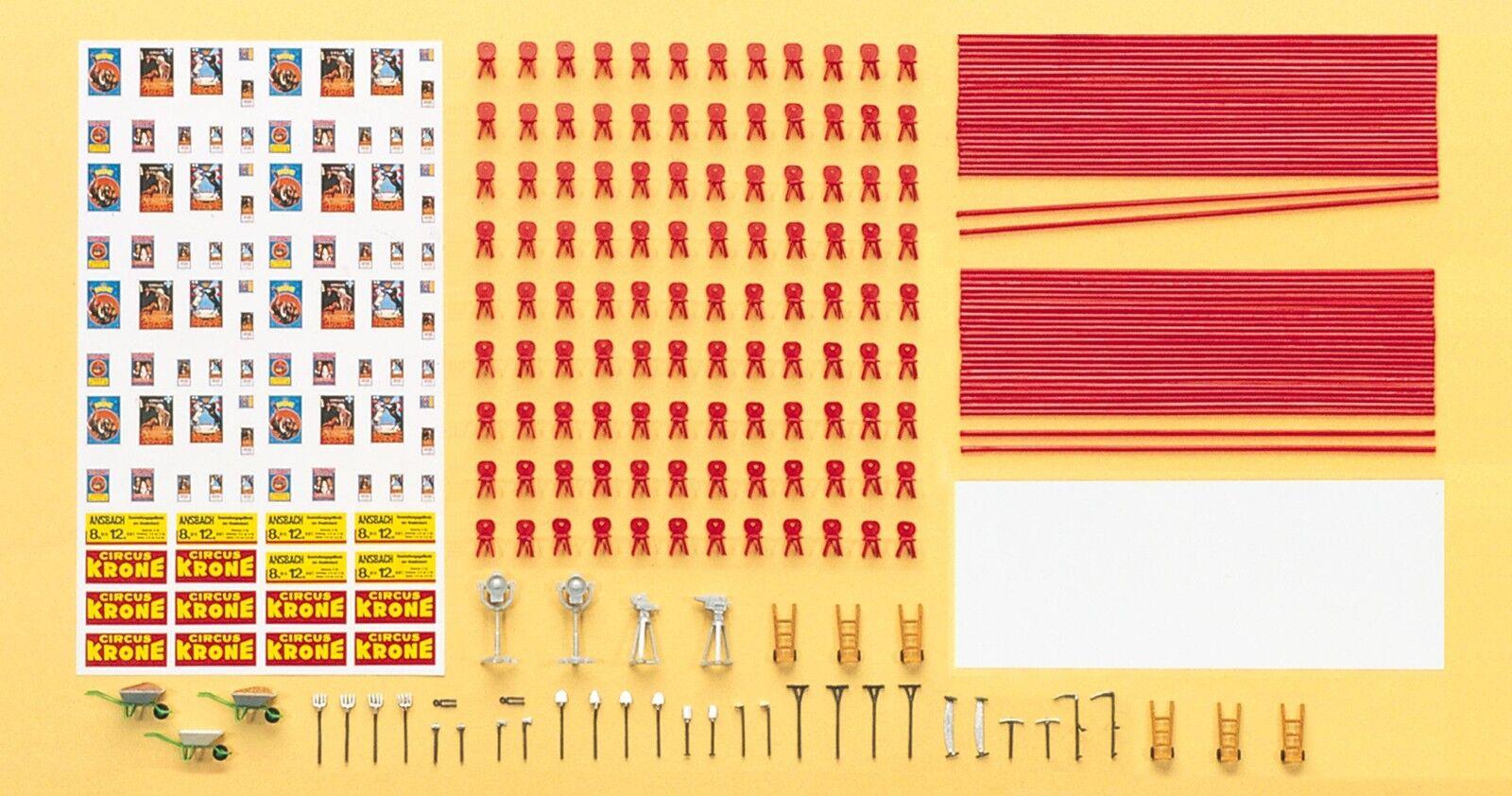 Preiser 21048 H0 Figuren Zurüstsatz Zelt Zirkus Krone