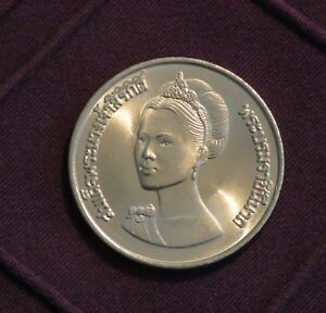 """THAILAND 10 BAHT /""""50th ANNIVERSARY OF QUEEN SIRIKIT/"""" 1982 COIN BE 2525 UNC"""