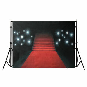 5X7ft-Vinyl-Photography-Red-Carpet-Art-Photo-Background-Studio-Props-Backdrop