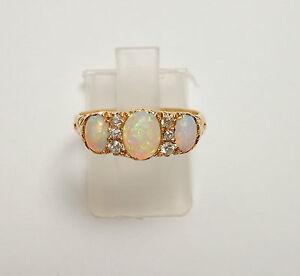 Antique opal diamond ring birmingham 1901 18 carat gold for Sell jewelry birmingham al