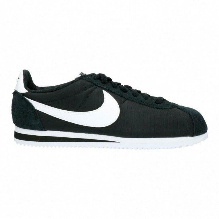 Uomo Nike Classic Cortez Nylon Nera Scarpe Sportive 807472 011