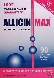 Details about 2 x Allicin MAX 90 Vegetarian Capsules *Garlic*