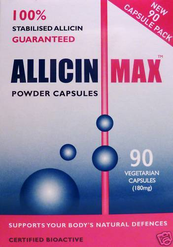 2 x Allicin MAX 90 Vegetarian Capsules Garlic