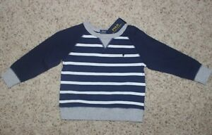 Polo-Ralph-Lauren-Toddler-Boys-Navy-amp-White-Shirt-Size-2T-NWT