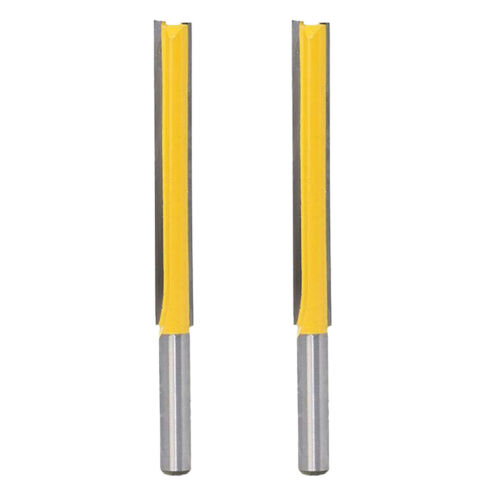 2pcs Carbide Tipped Long Straight Router Bit Trimming Blade Edge Repair Cutter