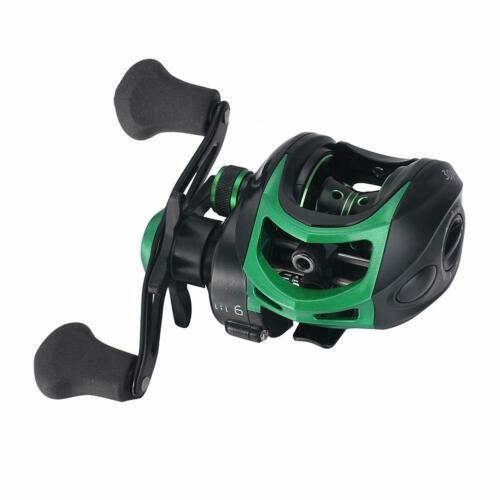 High Speed 9.1:1 Gear Ratio Baitcast Fishing Reel 19+1 Ball Bearings Baitcasting