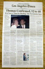 1991 headline  newspaper CLARENCE THOMAS CONFIRMED as US SUPREME COURT JUSTICE