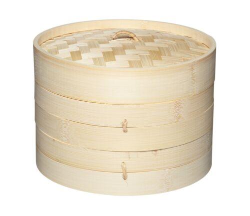 Kitchen Craft monde de saveurs orientales deux étages Bambou Vapeur Et Couvercle 20 cm