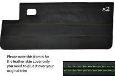 Verde Stitch 2x Completa Puerta Tarjeta Cuero Skin Tapa se ajusta Peugeot 205 Cj Cabrio