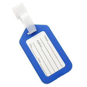 3X-Kofferanhaenger-Kunststoff-Gepaeckanhaenger-Luggage-Tags-Blau-B7U4-6I