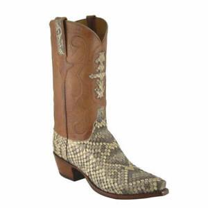 Bottes cowboy mexicaines à la main, en cuir, imprimé cowboy, cuir et brun