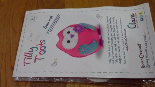 Felt soft toy kit from Acorn Crescent by Clara owl or pigeon, dog