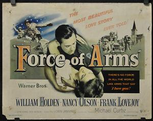 Fuerza-de-Brazos-1951-Original-22X28-Pelicula-Poster-William-Holden-Nancy-Olson