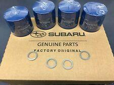 OEM Factory Subaru Engine Oil Filter & Crush Gasket (4 Pack) 15208AA12A Genuine