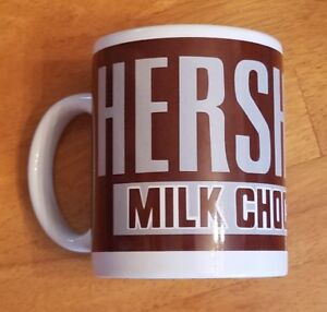 Hersheys-Milk-Chocolate-Coffee-Mug-Tea-Cup-Brown-White-Billco-Hot-Handle-Warm