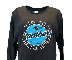 5207f893 Carolina Panthers Women NFL Team Apparel Black Long Sleeve T-Shirt ...