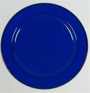 Enamel Flat Dinner Plate 22cm Blue Camping 4WD Caravan Boat Kitchen