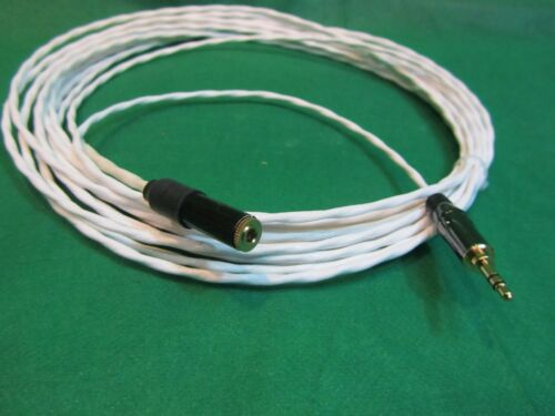 "35 Ft SILVER PLATED 3.55 MM 1//8/"" AUDIOPHILE HEADPHONE EXTENSION CABLE."