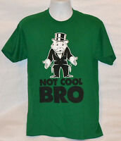 Monopoly Uncle Moneybags Broke T-shirt Green Tee