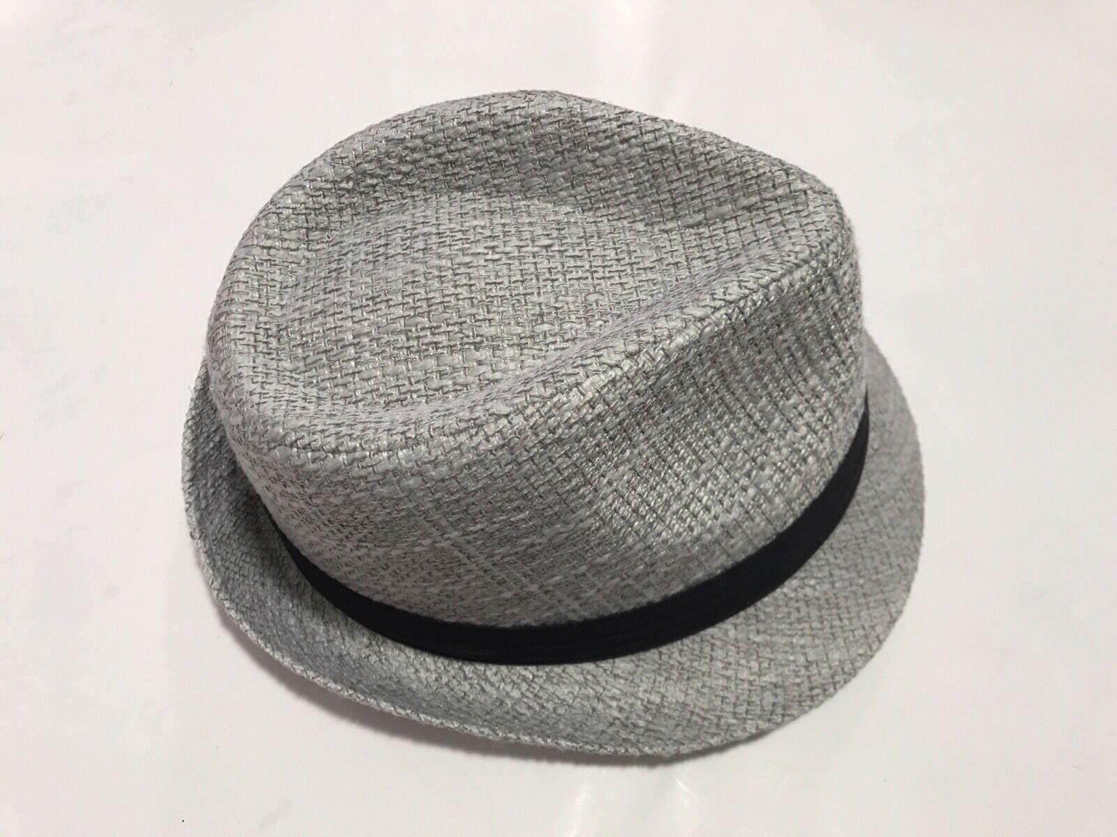 Bruno Conte's 100% Polyester Men's Men's Men's Fedora Silver Hat Large Size 4c57a9