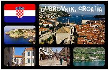 DUBROVNIK, CROATIA - SOUVENIR NOVELTY FRIDGE MAGNET - FLAGS / SIGHTS - NEW/GIFT