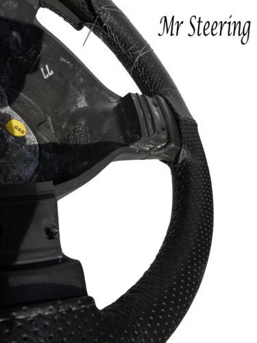 De Cuero Perforado volante cubierta Gris Stitch Para Mercedes Actros Nuevo 12