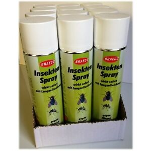 12 x insektenspray 400 ml m cken abwehr von braeco gegen fliegen m cken motten ebay. Black Bedroom Furniture Sets. Home Design Ideas