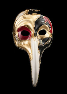 Maschera Turco Di Venezia A Lunghi Naso Symphonia Veneziana Nero VG19 1518