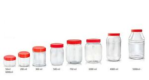 Plastic-Storage-Jars-Containers-Canisters-SUNPET-Pots-Screw-Top