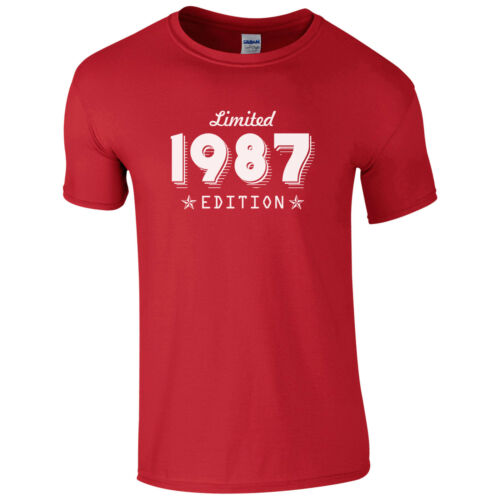 Limited Edition 1987 T-Shirt Born 30th Year Birthday Age Present Funny Mens Gift