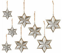 Qvc Ed On Air Set Of 9 Metal Star Christmas Ornaments By Ellen Degeneres Silver