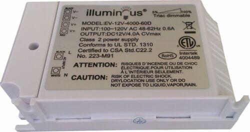 approved UL 12V 48W Dimmable CV DC LED Driver ETL