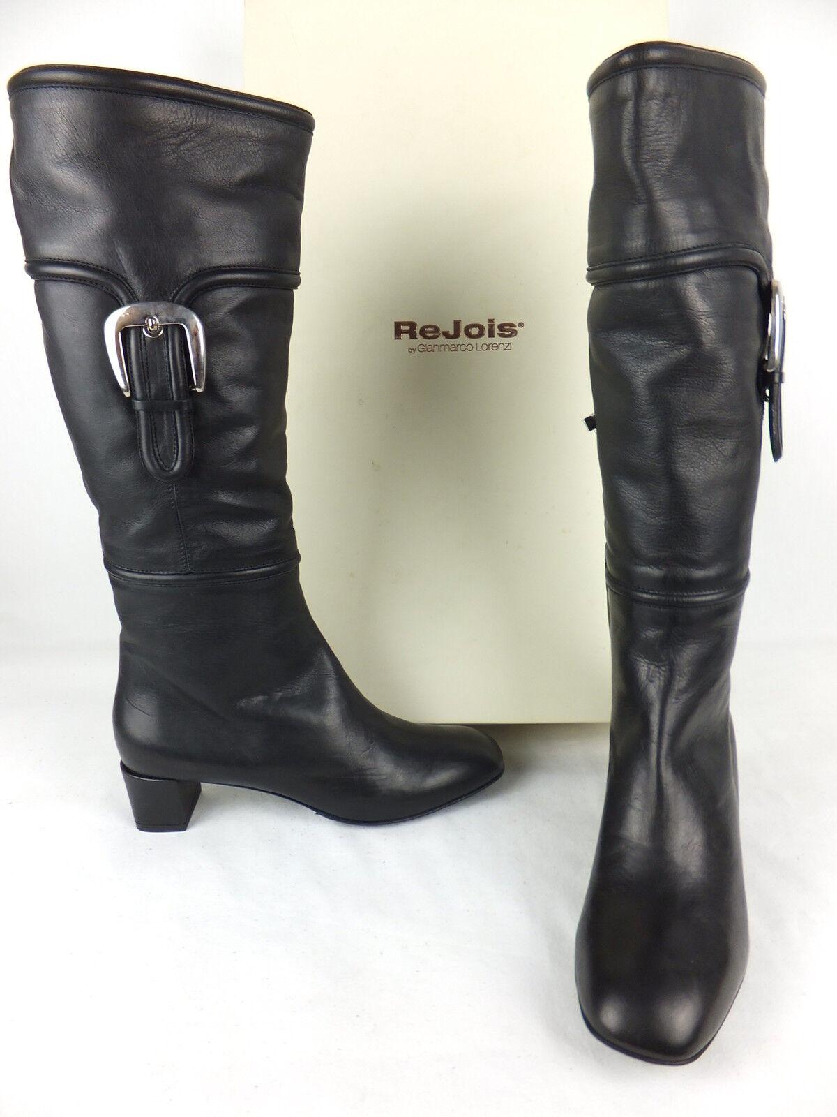Rejois by Gianmarco Lorenzi Stiefel  - 37 - schwarz  neu m. Karton mit Schnallen