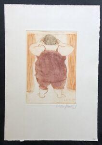 Kurt-Muehlenhaupt-Guten-Morgen-liebe-Monika-Farbradierung-1984-handsigniert