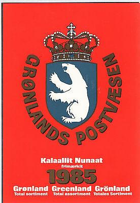 Greenland Briefmarken-jahresmappe Yearset 1985 Postfrisch Jahrgang Romantisch Grönland