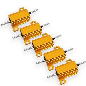 US Stock 5x 130 ohm 130R 5W Watt Aluminum Housed Metal Case Wirewound Resistors