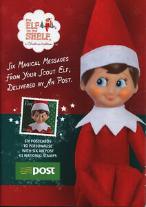 Irlande-2018-neuf-sans-charniere-ELF-sur-etagere-6-V-S-A-M-S-cartes-postales-Pack-CHRISTMAS-STAMPS