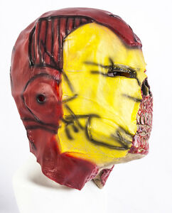 Full Head Zombie Iron Man Latex Mask Deluxe Fancy Dress Halloween