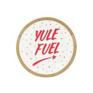 Image is loading Yule-fuel-Christmas-paper-plates-set-of-10  sc 1 st  eBay & Yule fuel Christmas paper plates - set of 10 | eBay