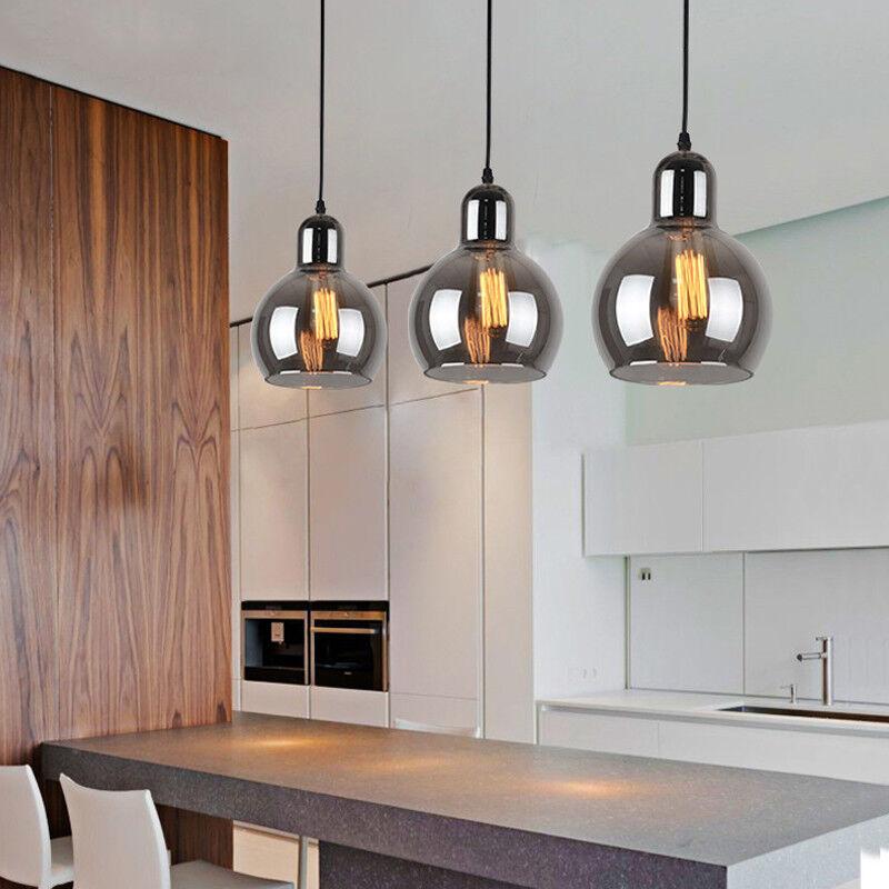 E26 Blub Base Bpmart Modern Pendant Light fixtures 4-Light Chandelier Industrial Ceiling Hanging Lights for Dining Room Kitchen Island Light Black//Wood
