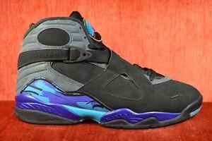 72f421949e8 CLEAN Nike Air Jordan 8 VIII Retro 2015 Aqua Black Purple 305381-025 ...