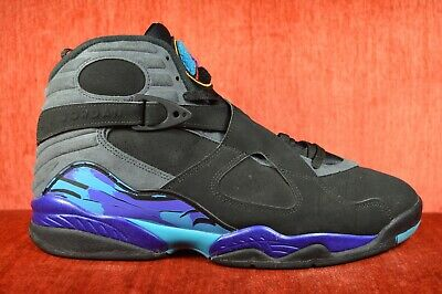 new arrival 3e988 35bfe CLEAN Nike Air Jordan 8 VIII Retro 2015 Aqua Black Purple 305381-025 Size  12 888410239551 | eBay