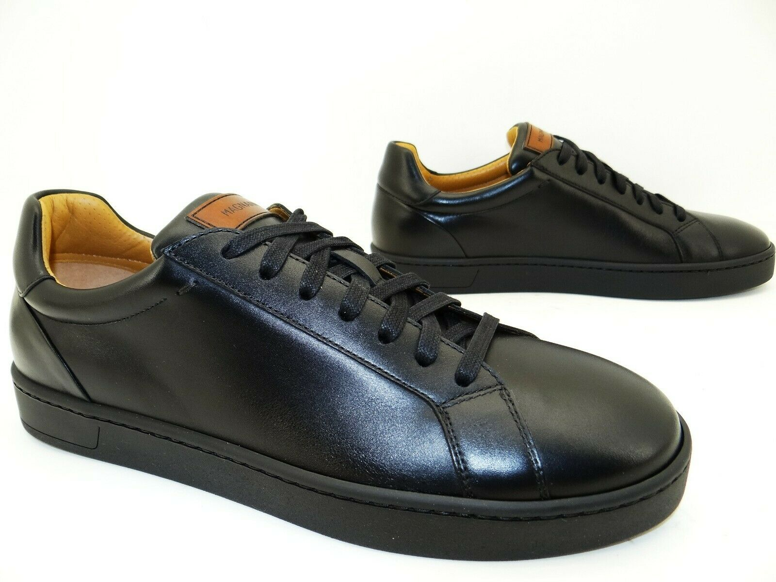Magnanni Osaka Sneaker Lace Up Shoes Running Shoes Thurn Mens Leather Size 42 Black