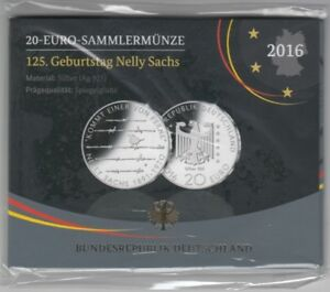 125 Birthday Nelly Sachs Silver Proof 2016