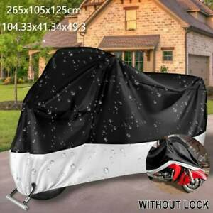 XXL Silver Motorcycle Rain Cover For Harley Davidson Touring Street Glide FLHX