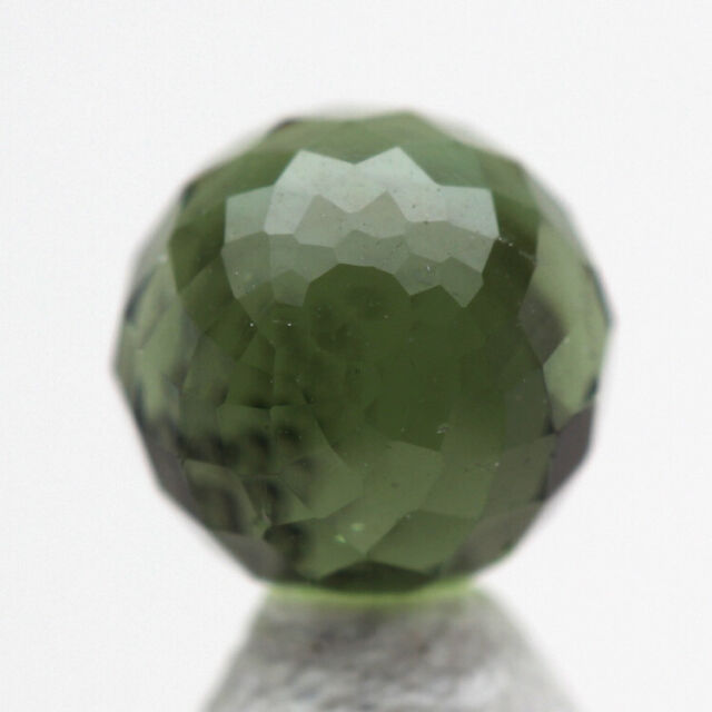 RARE Moldavite SPHERE Carving Meteorite Impact Glass Gemstone Tektite HandCarved