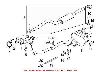 Exhaust Muffler Tail Pipe Tip Left Mercedes GLK350 Genuine OE 2042827