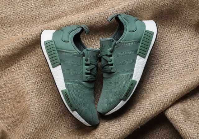 quality design 4fcb4 5bc8c adidas NMD R1 Trace Green Olive Cargo White Boost Shoes Nomad By9692 Mens Sz  9.5 for sale online   eBay