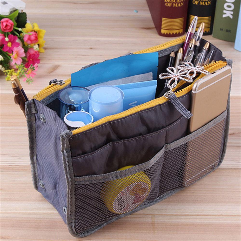 caa7edf694 1 2pcs Bag Insert Organiser Handbag Women Travel Makeup Purse Wallet Pouch  AU Black 1pc